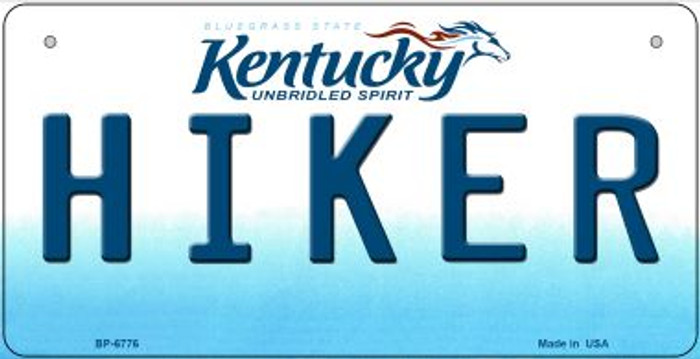 Kentucky Hiker Novelty Metal Bicycle Plate BP-6776