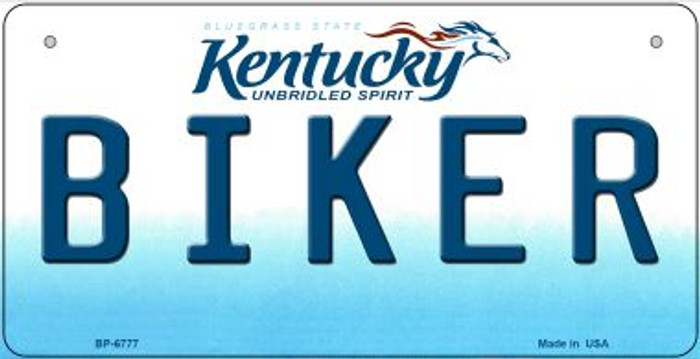 Kentucky Biker Novelty Metal Bicycle Plate BP-6777