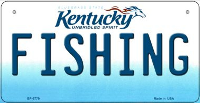 Kentucky Fishing Novelty Metal Bicycle Plate BP-6779