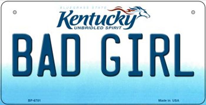 Kentucky Bad Girl Novelty Metal Bicycle Plate BP-6781