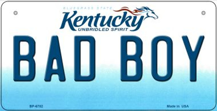 Kentucky Bad Boy Novelty Metal Bicycle Plate BP-6782