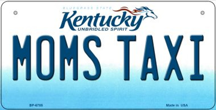 Kentucky Moms Taxi Novelty Metal Bicycle Plate BP-6785