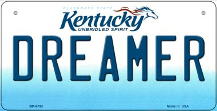 Kentucky Dreamer Novelty Metal Bicycle Plate BP-6792