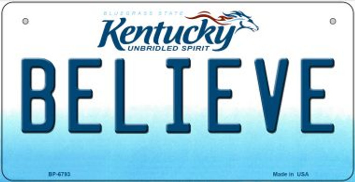 Kentucky Believe Novelty Metal Bicycle Plate BP-6793