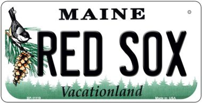 Maine Red Sox Novelty Metal Bicycle Plate BP-11119