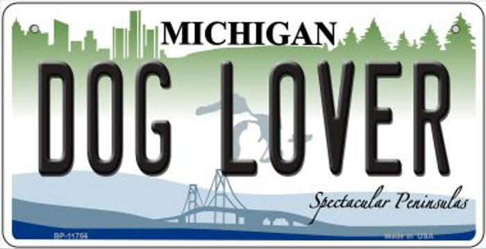 Michigan Dog Lover Novelty Metal Bicycle Plate BP-11756