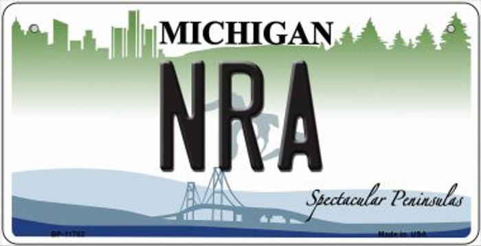 Michigan NRA Novelty Metal Bicycle Plate BP-11782