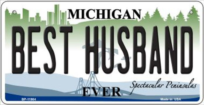 Michigan Best Husband Novelty Metal Bicycle Plate BP-11904