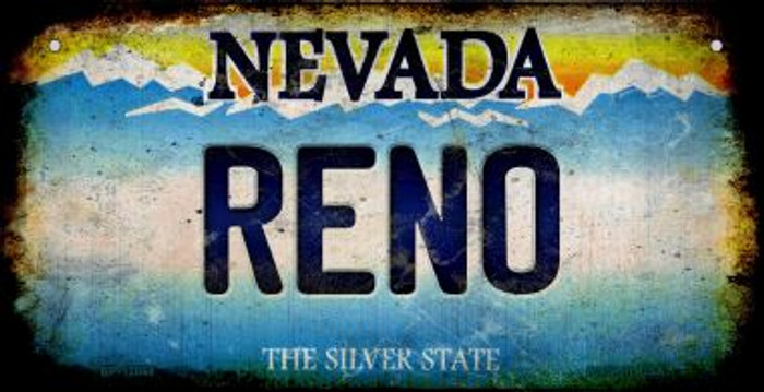 Nevada Reno Novelty Metal Bicycle Plate BP-12068