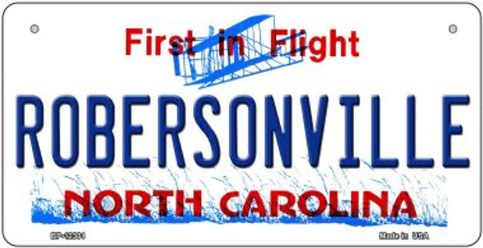 North Carolina Robersonville Novelty Metal Bicycle Plate BP-12301