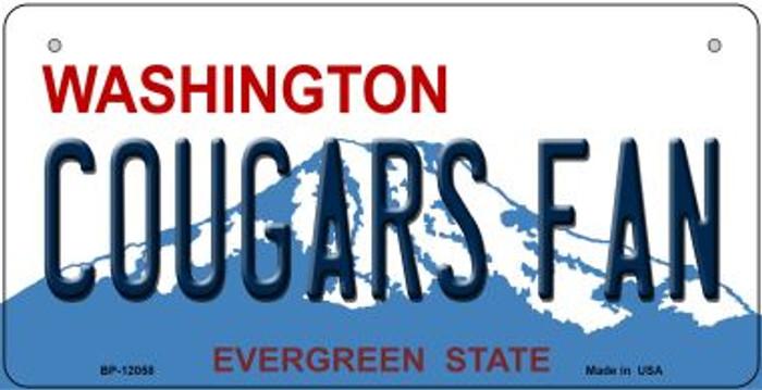 Washington Cougars Fan Novelty Metal Bicycle Plate BP-12058
