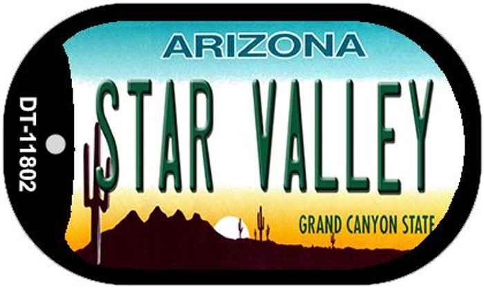 Arizona Star Valley Novelty Metal Dog Tag Necklace DT-11802