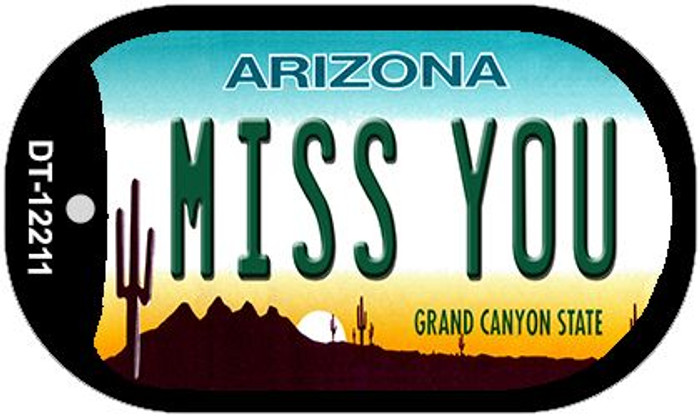 Arizona Miss You Novelty Metal Dog Tag Necklace DT-12211