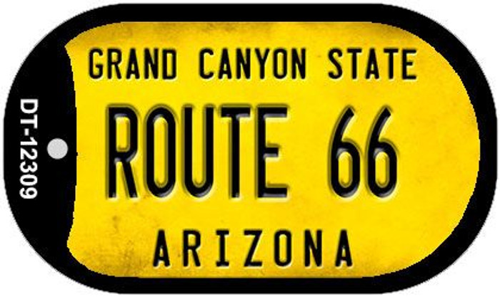 Arizona Route 66 Novelty Metal Dog Tag Necklace DT-12309