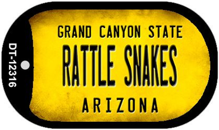 Arizona Rattle Snakes Novelty Metal Dog Tag Necklace DT-12316