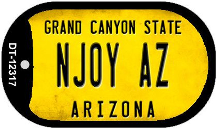 Arizona NJOY AZ Novelty Metal Dog Tag Necklace DT-12317