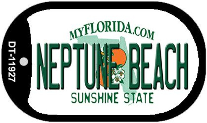 Florida Neptune Beach Novelty Metal Dog Tag Necklace DT-11927