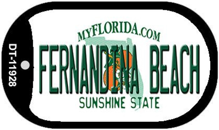 Florida Fernandina Beach Novelty Metal Dog Tag Necklace DT-11928