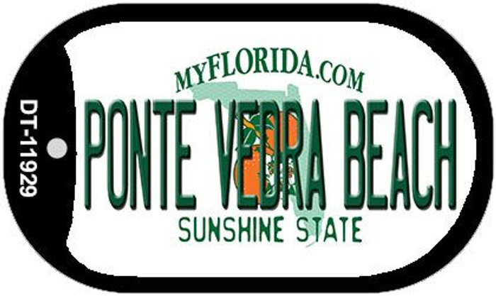 Florida Ponte Vedra Beach Novelty Metal Dog Tag Necklace DT-11929