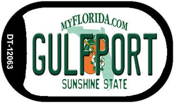 Florida Gulfport Novelty Metal Dog Tag Necklace DT-12063
