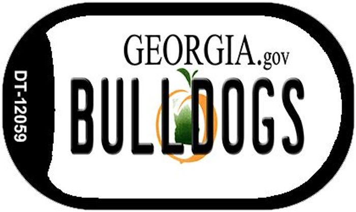 Georgia Bulldogs Novelty Metal Dog Tag Necklace DT-12059