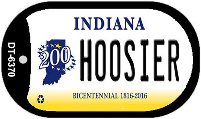 Indiana Hoosier Novelty Metal Dog Tag Necklace DT-6370