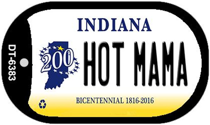 Indiana Hot Mama Novelty Metal Dog Tag Necklace DT-6383