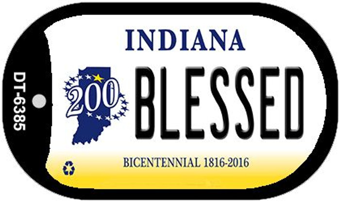 Indiana Blessed Novelty Metal Dog Tag Necklace DT-6385