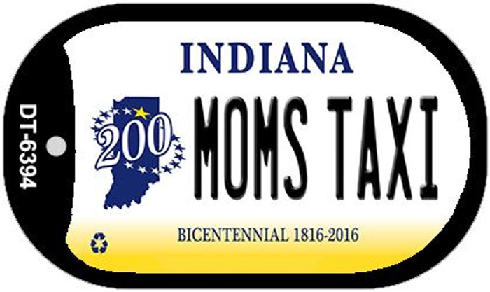 Indiana Moms Taxi Novelty Metal Dog Tag Necklace DT-6394