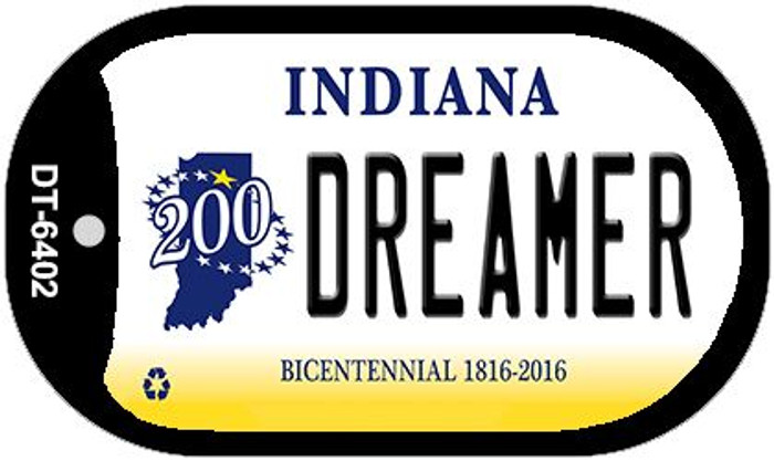 Indiana Dreamer Novelty Metal Dog Tag Necklace DT-6402