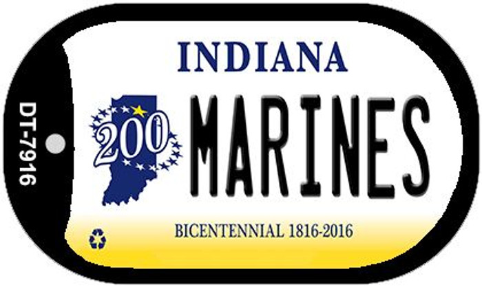 Indiana Marines Novelty Metal Dog Tag Necklace DT-7916