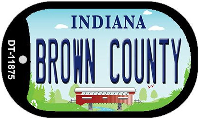Indiana Brown County Novelty Metal Dog Tag Necklace DT-11875