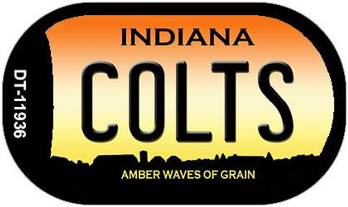 Indiana Colts Novelty Metal Dog Tag Necklace DT-11936