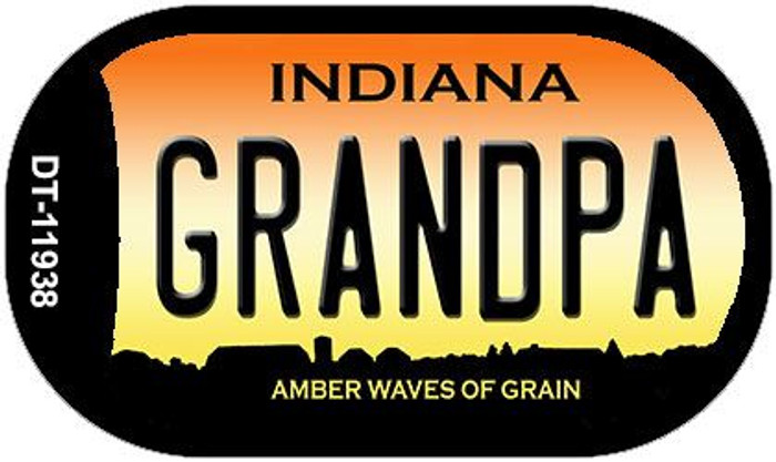Indiana Grandpa Novelty Metal Dog Tag Necklace DT-11938