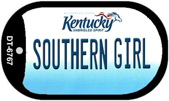 Kentucky Southern Girl Novelty Metal Dog Tag Necklace DT-6767
