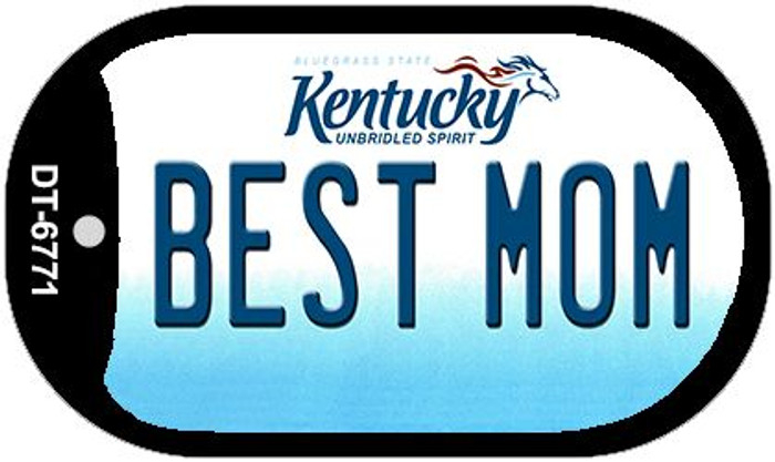 Kentucky Best Mom Novelty Metal Dog Tag Necklace DT-6771