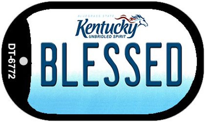 Kentucky Blessed Novelty Metal Dog Tag Necklace DT-6772