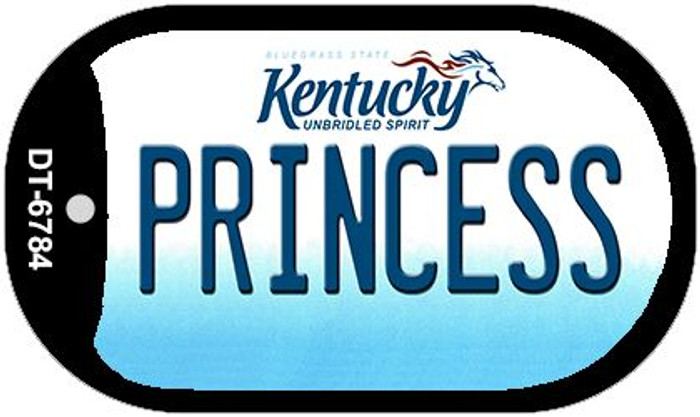Kentucky Princess Novelty Metal Dog Tag Necklace DT-6784