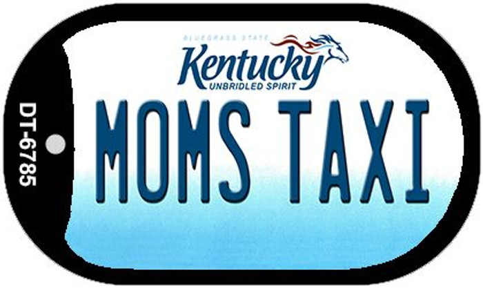 Kentucky Moms Taxi Novelty Metal Dog Tag Necklace DT-6785