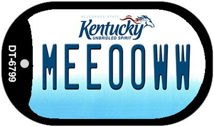 Kentucky Meeooww Novelty Metal Dog Tag Necklace DT-6799