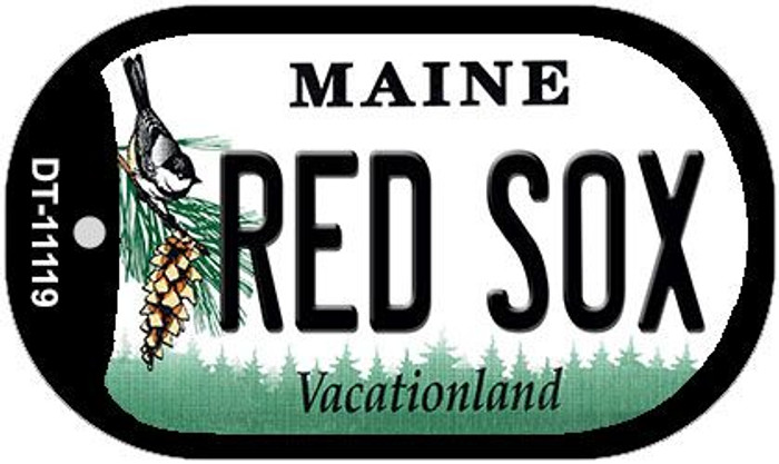 Maine Red Sox Novelty Metal Dog Tag Necklace DT-11119
