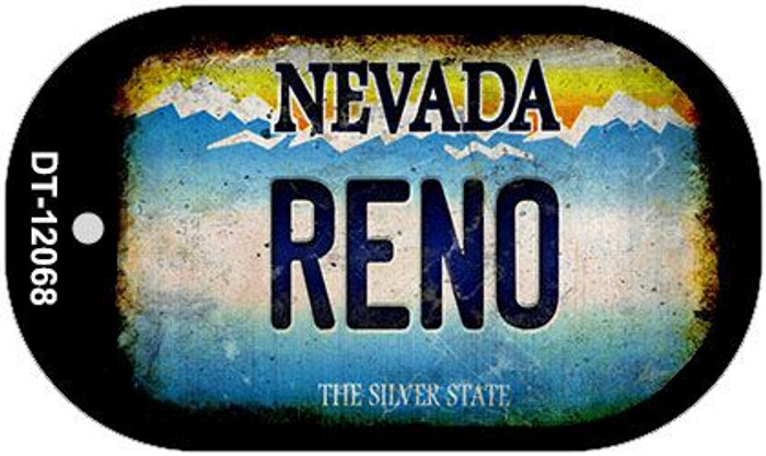 Nevada Reno Novelty Metal Dog Tag Necklace DT-12068