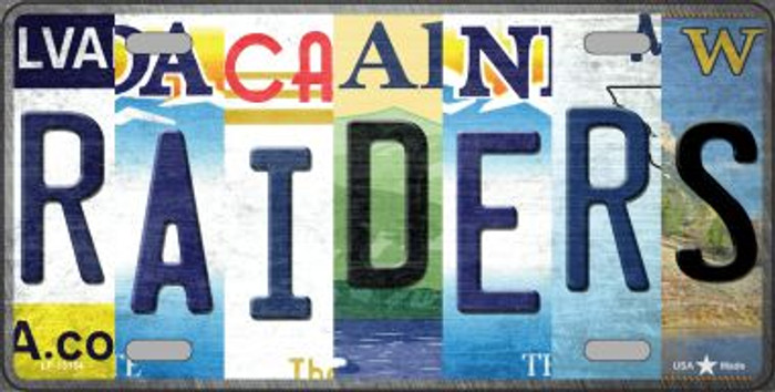 Raiders Strip Art Novelty Metal License Plate Tag LP-13154