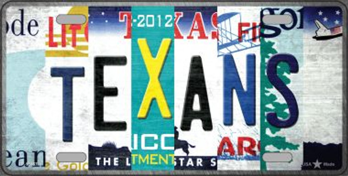 Texans Strip Art Novelty Metal License Plate Tag LP-13157