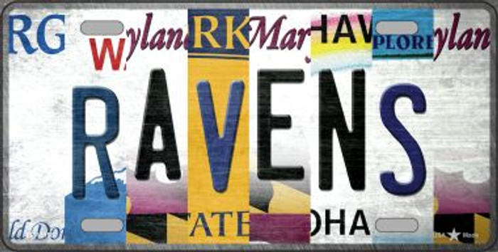 Ravens Strip Art Novelty Metal License Plate Tag LP-13158