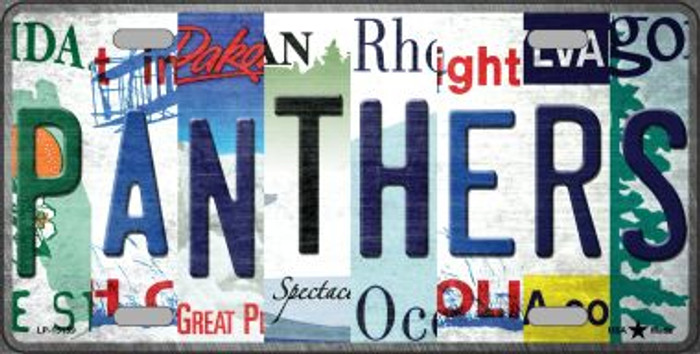 Panthers Strip Art Novelty Metal License Plate Tag LP-13159