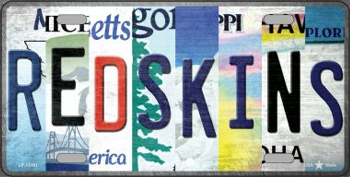Redskins Strip Art Novelty Metal License Plate Tag LP-13161