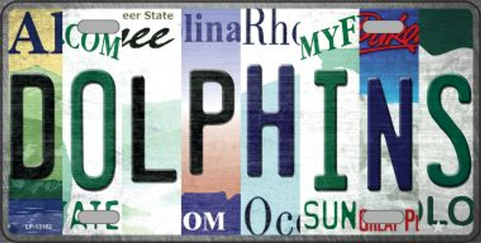 Dolphins Strip Art Novelty Metal License Plate Tag LP-13162