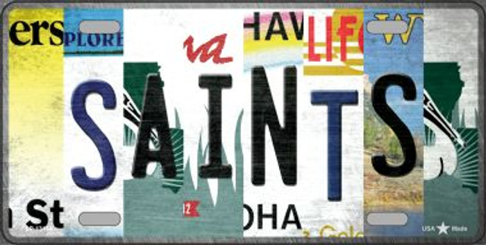 Saints Strip Art Novelty Metal License Plate Tag LP-13164