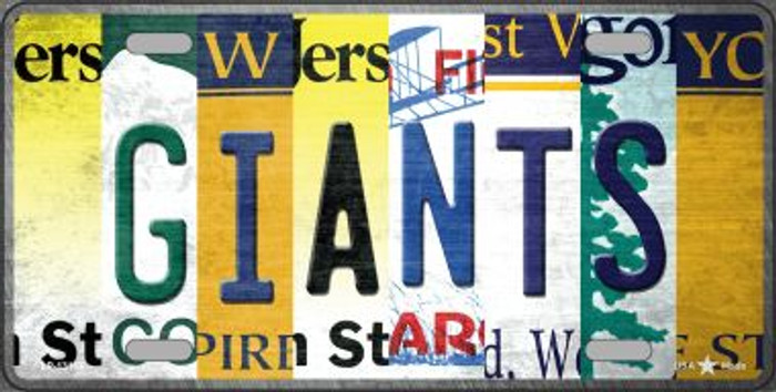 Giants Strip Art Novelty Metal License Plate Tag LP-13165